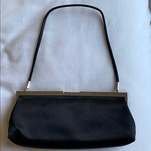 Black satin evening bag/clutch by Calvin Klein